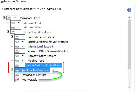 Office Shared Features